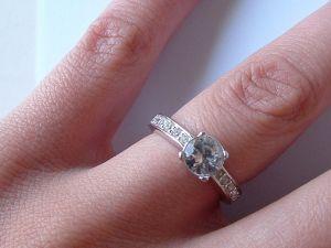 engagement ring hand selfie