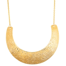 Stainless steel gold crescent cable neckalce